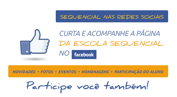 Curta a Escola Sequencial no Facebook