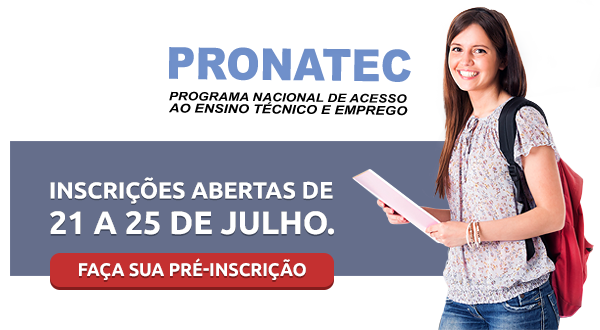 Inscreva-se no Pronatec!