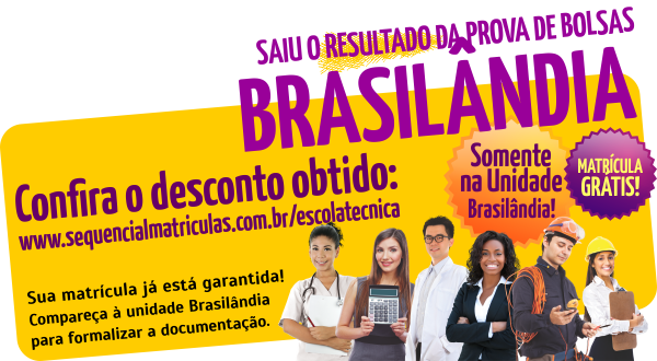 Resultado da Prova de Bolsas Brasilândia